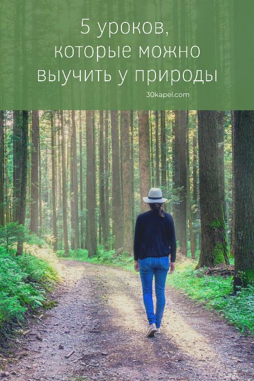 5 уроков, которые можно выучить у природы