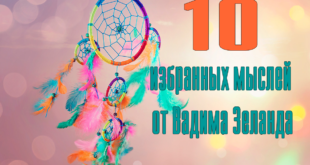 10 избранных мыслей от Вадима Зеланда